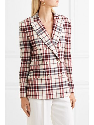 Antonio Berardi checked wool and mohair-blend blazer