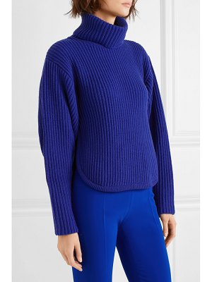 Antonio Berardi cutout ribbed wool and cashmere-blend turtleneck sweater