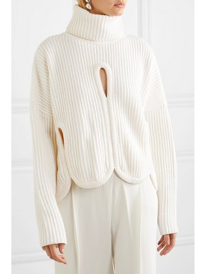 Antonio Berardi cutout wool and cashmere-blend turtleneck sweater
