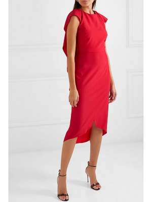 Antonio Berardi draped wool-blend dress