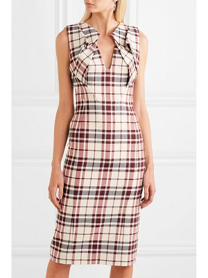 Antonio Berardi folded checked wool and mohair-blend dress