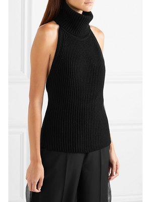 Antonio Berardi ribbed wool and cashmere-blend turtleneck top