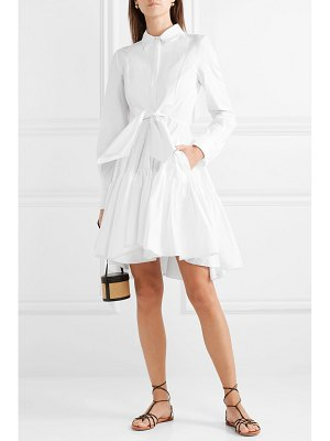 Antonio Berardi tie-front tiered cotton-poplin dress