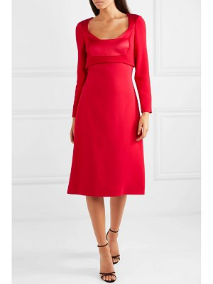 Antonio Berardi wool-crepe, cady and satin midi dress