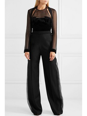 Antonio Berardi wool-crepe, velvet and silk-organza jumpsuit