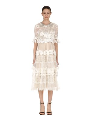 Antonio Marras Embellished lace & tulle dress