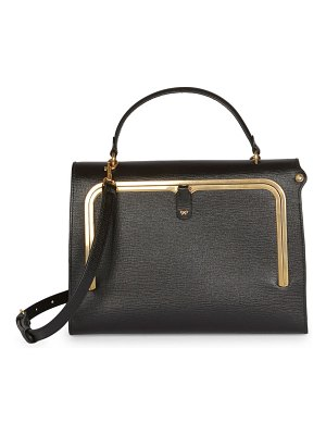 Anya Hindmarch bar leather postbox satchel