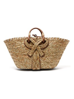 Anya Hindmarch bow large seagrass basket bag