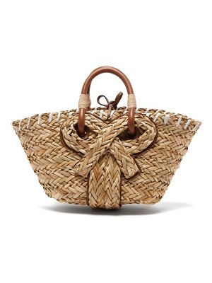 Anya Hindmarch bow seagrass basket bag