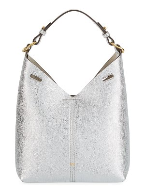 Anya Hindmarch Build A Bag Mini Crinkled Metallic Hobo Bag