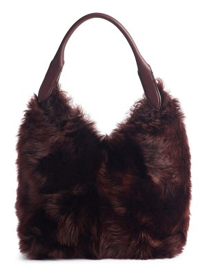 Anya Hindmarch build a bag small genuine shearling & leather base bag