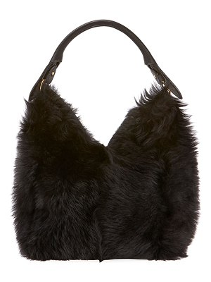 Anya Hindmarch Build A Bag Small Shearling Hobo Bag