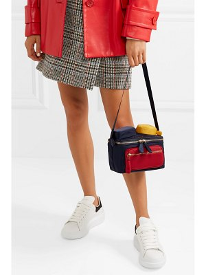 Anya Hindmarch chubby color-block leather-trimmed shell shoulder bag