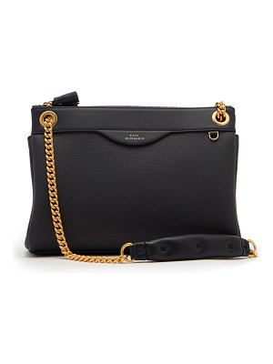 Anya Hindmarch Double-zip leather shoulder bag