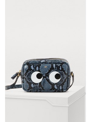 Anya Hindmarch Eyes python print mini crossbody bag