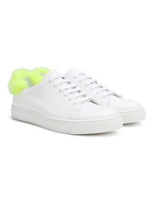 Anya Hindmarch fur-trimmed leather sneakers