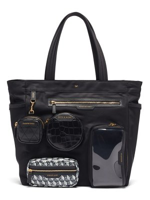 Anya Hindmarch home office recycled-canvas tote bag