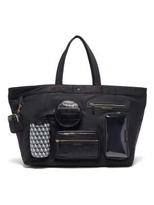 Anya Hindmarch large multi-pocket recycled-canvas tote bag