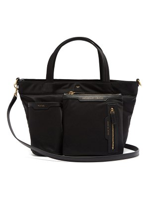 Anya Hindmarch leather trim tote bag