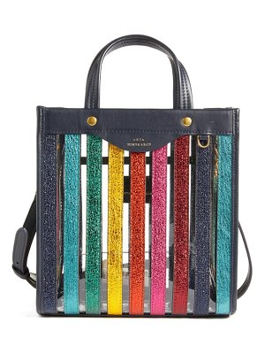 Anya Hindmarch mini multi stripe tote