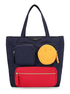 Anya Hindmarch multi pocket chubby wink tote