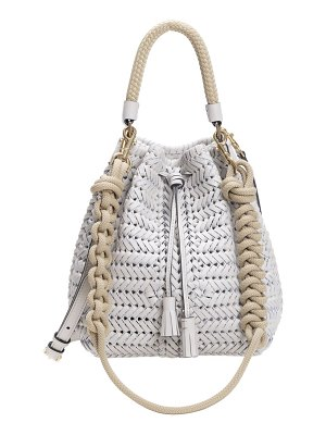 Anya Hindmarch neeson drawstring woven leather bucket bag