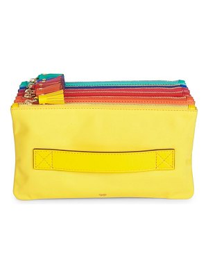 Anya Hindmarch rainbow nylon accordion clutch