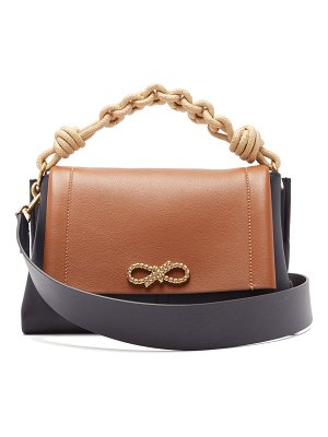 Anya Hindmarch rope bow leather shoulder bag