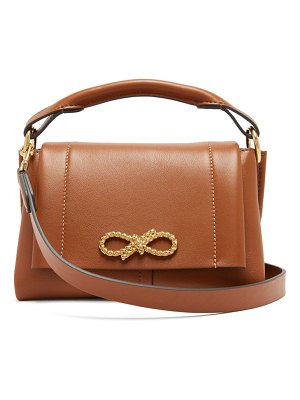 Anya Hindmarch rope bow mini leather handbag