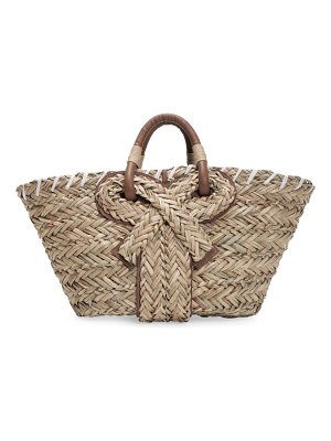 Anya Hindmarch small bow seagrass tote