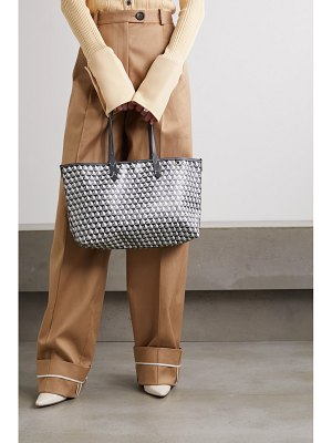 Anya Hindmarch i am a plastic bag small leather-trimmed printed coated-canvas tote