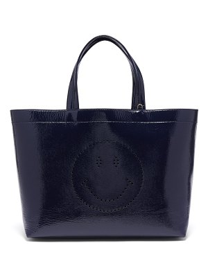 Anya Hindmarch Smiley patent leather tote