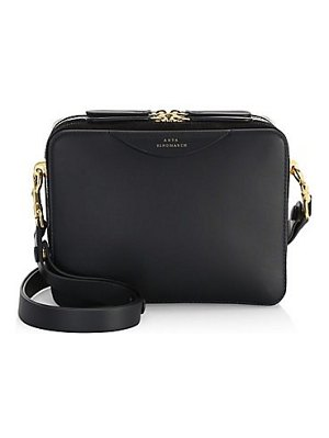 Anya Hindmarch stacked leather box shoulder bag