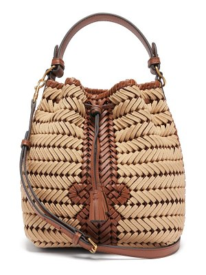 Anya Hindmarch the neeson small woven-leather and rope bag