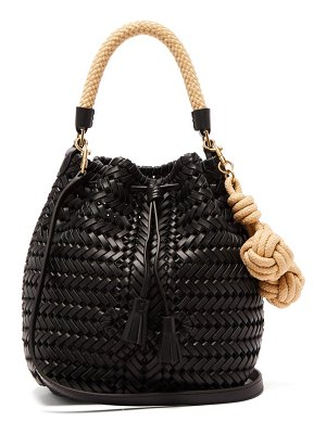 Anya Hindmarch the neeson small woven-leather drawstring bag