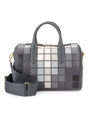 Anya Hindmarch Vere Giant Pixel Leather Barrel Bag