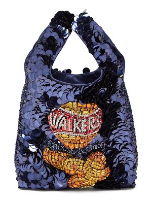 Anya Hindmarch walkers sequinned recycled-satin tote bag