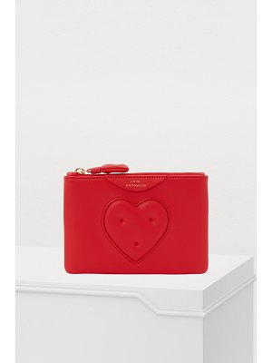 Anya Hindmarch Zipped leather heart clutch