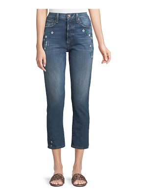 AO.LA by Alice+Olivia Amazing High-Rise Ankle Girlfriend Jeans