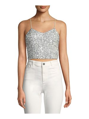AO.LA by Alice+Olivia Archer Embellished Cropped Cami Top