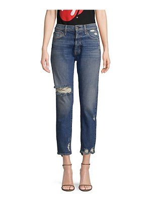 AO.LA by alice + olivia amazing high rise distressed button fly jeans