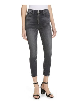 AO.LA by alice + olivia ao. la by alice + olivia good exposed zip ankle skinny jeans