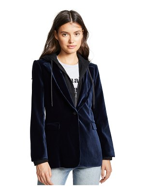 AO.LA by alice + olivia ao. la by alice + olivia macey fitted blazer with hood