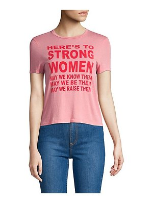 AO.LA by alice + olivia cicely strong women cotton tee