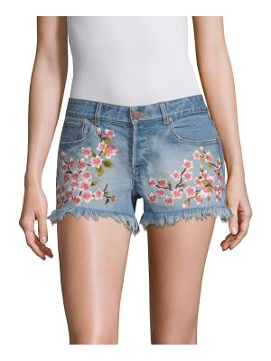 AO.LA by alice + olivia embroidered vintage shorts