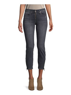 Alice + Olivia Faded Low-Rise Cropped Jeans