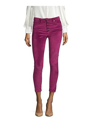 AO.LA by alice + olivia good high-rise exposed button jeans