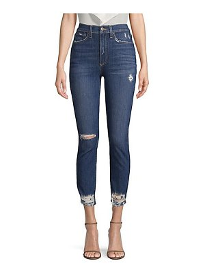 AO.LA by alice + olivia good high-rise distressed skinnyjeans