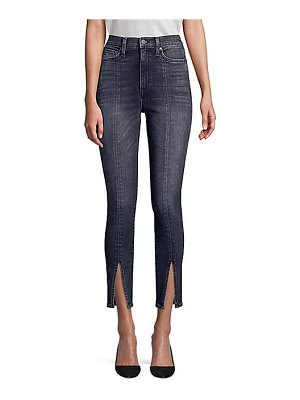 AO.LA by alice + olivia good high-rise split hem skinny jeans