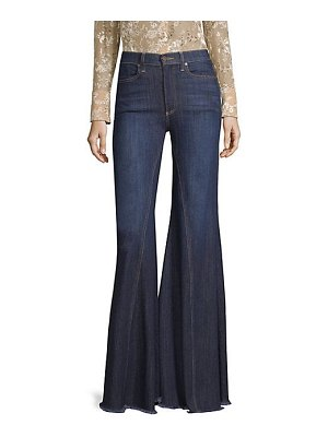 AO.LA by alice + olivia high-rise exaggerated ruffle hem jeans